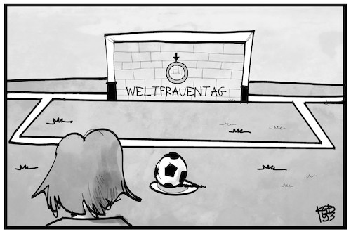 Cartoon: Weltfrauentag (medium) by Kostas Koufogiorgos tagged karikatur,koufogiorgos,illustration,cartoon,weltfrauentag,fussball,chancengleichheit,gleichberechtigung,frau,gender,gesellschaft,karikatur,koufogiorgos,illustration,cartoon,weltfrauentag,fussball,chancengleichheit,gleichberechtigung,frau,gender,gesellschaft