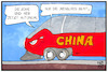 Cartoon: Autonom in China (small) by Kostas Koufogiorgos tagged karikatur,koufogiorgos,illustration,cartoon,china,autonom,demokratie,zug,straßenbahn,fahren,mobilität,menschenrecht