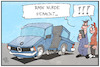 Cartoon: BMW gehackt (small) by Kostas Koufogiorgos tagged karikatur,koufogiorgos,illustration,cartoon,bmw,hacker,angriff,cyber,spionage,krieg,automobil,digital