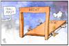 Cartoon: Brexit-Deal (small) by Kostas Koufogiorgos tagged karikatur,koufogiorgos,illustration,cartoon,brexit,deal,tür,ausgang,erschlagen,europa,eu,uk,may,premierministerin