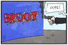 Cartoon: Brexit (small) by Kostas Koufogiorgos tagged karikatur,koufogiorgos,illustration,cartoon,brexit,schiessen,schuss,jo,cox,uk,grossbritannien,europa,austritt,exit,attentat