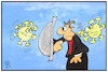 Cartoon: Corona-Virus (small) by Kostas Koufogiorgos tagged karikatur,koufogiorgos,illustration,cartoon,corona,grippe,gesundheit,krankheit,abwehr,patient