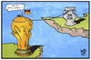Cartoon: EM-Kader (small) by Kostas Koufogiorgos tagged karikatur,koufogiorgos,illustration,cartoon,em,wm,pokal,fussball,kader,mannschaft,sport,nominierung,löw,bundestrainer,titel,meisterschaft,europameisterschaft