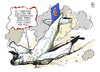 Cartoon: Euro-Crash (small) by Kostas Koufogiorgos tagged euro,schulden,krise,crash,flugzeug,wirtschaft,absturz,karikatur,kostas,koufogiorgos