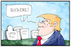 Cartoon: Gedenken am 11. September (small) by Kostas Koufogiorgos tagged karikatur,koufogiorgos,illustration,cartoon,trump,opfer,11,anschlag,terrorismus,gedenken,beleidigung,usa,wtc,new,york