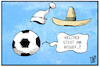 Cartoon: GERMEX (small) by Kostas Koufogiorgos tagged karikatur,koufogiorgos,illustration,cartoon,germex,mexger,mexiko,deutschland,michel,schlafmütze,sombrero,fussball,sport,wm,fifa,weltmeisterschaft,hut