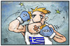 Cartoon: Greferendum (small) by Kostas Koufogiorgos tagged karikatur,koufogiorgos,illustration,cartoon,greferendum,referendum,ja,nein,boxer,schlag,wahl,entscheidung,demokratie,schuldenkrise,politik