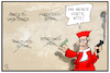 Cartoon: Hartz IV-Sanktionen (small) by Kostas Koufogiorgos tagged karikatur,koufogiorgos,illustration,cartoon,hartz,iv,sanktion,karlsruhe,verfassungsgericht,urteil,regierung,richter,verfassungsrichter,gesetz,kippen,verfassungswidrig