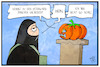 Cartoon: Hohler Terrorismus (small) by Kostas Koufogiorgos tagged karikatur,koufogiorgos,illustration,cartoon,terrorismus,kürbis,kopf,terrorist,halloween