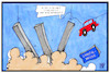 Cartoon: Lahntalbrücke (small) by Kostas Koufogiorgos tagged karikatur,koufogiorgos,illustration,cartoon,lahntal,bruecke,a3,autobahn,auto,sprengung,navi,karten,update,navigation