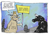 Cartoon: Land der Freiheit (small) by Kostas Koufogiorgos tagged usa,eu,stier,mutation,abkommen,handel,freihandelsabkommen,wirtschaft,karikatur,koufogiorgos