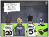 Cartoon: Manuel Neuer (small) by Kostas Koufogiorgos tagged karikatur,koufogiorgos,illustration,cartoon,neuer,torwart,verteidiger,mauer,freistoss,fussball,wm,sport,dfb,team,boateng,hummels