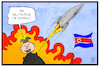 Cartoon: Nordkorea (small) by Kostas Koufogiorgos tagged karikatur,koufogiorgos,illustration,cartoon,nordkorea,kim,jong,un,trump,atomwaffe,nuklear,rakete,glückwunsch,salutschuss,usa