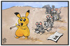 Cartoon: Pokemon Go (small) by Kostas Koufogiorgos tagged karikatur,koufogiorgos,illustration,cartoon,pokemon,go,computer,spiel,handy,smartphone,nintendo,app,rattenfänger,user,spielen,virtuelle,realität