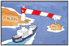 Cartoon: Seenotrettung (small) by Kostas Koufogiorgos tagged karikatur,koufogiorgos,illustration,cartoon,seenotrettung,sea,eye,alan,kurdi,malta,italien,mittelmeer,asylpolitik,flüchtlinge