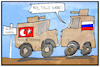 Cartoon: Syrien-Konflikt (small) by Kostas Koufogiorgos tagged karikatur,koufogiorgos,illustration,cartoon,patrouille,syrien,kurdistan,tuerkei,russland,militär,krieg,konflikt,rüstungsgüter,waffen