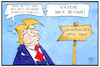Cartoon: Trump in Vietnam (small) by Kostas Koufogiorgos tagged karikatur,koufogiorgos,illustration,cartoon,trump,vietnam,hanoi,wehrpflicht,nordkorea,gipfel,treffen,usa