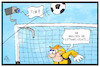 Cartoon: Videobeweis (small) by Kostas Koufogiorgos tagged karikatur,koufogiorgos,illustration,cartoon,video,beweis,kamera,software,technik,tor,torwart,sport,fussball