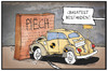 Cartoon: VW (small) by Kostas Koufogiorgos tagged karikatur,koufogiorgos,illustration,cartoon,vw,winterkorn,piech,mauer,wand,crashtest,käfer,volkswagen,auto,vorstand,aufsichtsrat,manager,machtkampg,automobil,industrie,wirtschaft