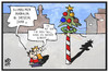 Cartoon: Zum 1. Mai (small) by Kostas Koufogiorgos tagged karikatur,koufogiorgos,illustration,cartoon,mai,wetter,maibaum,fest,maifeier,weihnachtsbaum,schnee