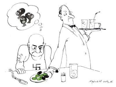 Cartoon: Black olives (medium) by Marlene Pohle tagged cartoon,