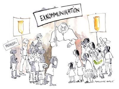 Cartoon: Excommunication (medium) by Marlene Pohle tagged cartoon,