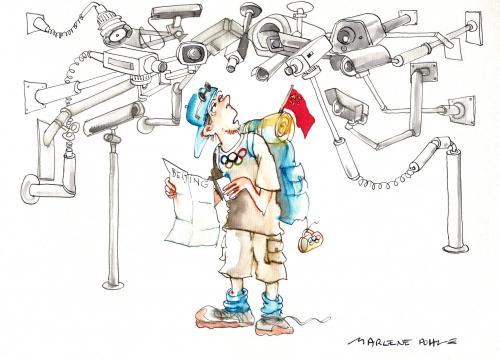 Cartoon: Olympic Games in Beijing 2008 (medium) by Marlene Pohle tagged olympic,games