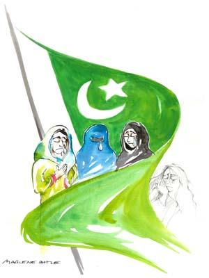 Cartoon: Pakistan (medium) by Marlene Pohle tagged cartoon,