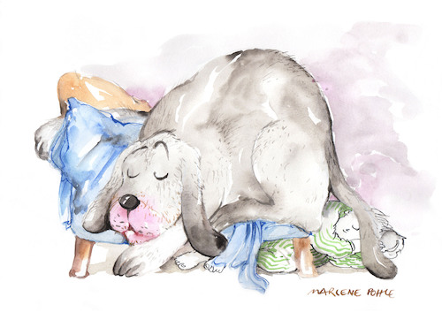 Cartoon: Pets (medium) by Marlene Pohle tagged haustiere,hund,plätzchen