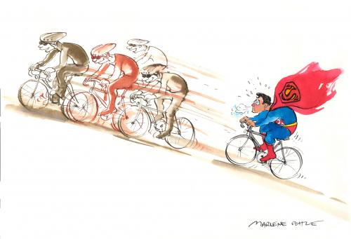 Cartoon: Tour de France for ever (medium) by Marlene Pohle tagged sports