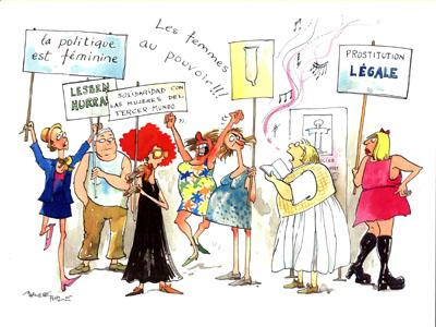 Cartoon: Women power (medium) by Marlene Pohle tagged cartoon,