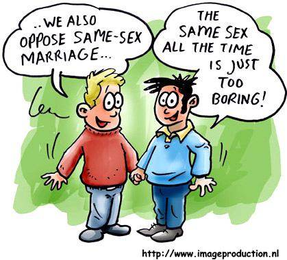 Cartoon: gay marriage (medium) by illustrator tagged love,guys,heiraten,heirat,ehe,homosexuell,schwul,gays,same,boring,marriage,illustration,cartoon,character,illustrator,welleman,,ablehnen,dagegen,ehe,heiraten,heirat,paar,beziehung,liebe,mann,homosexualität,schwul,homo,geschlecht,gleich,langweilig,sex