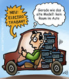 Cartoon: Electro Trabant (small) by illustrator tagged trabant,electric,electro,auto,wagen,accu,battery,batterie,inside,raum,neu,modell,alte