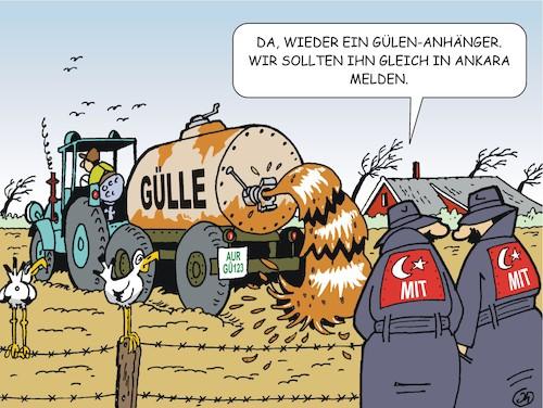 landwirte im visierjotka  politics cartoon  toonpool