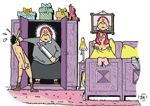 Im Cuckold Ehemann Im Schlafzimmer Foto Frauen
