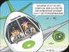Cartoon: Mutprobe - Test of courage (small) by JotKa tagged urlaub,reisen,fliegen,mutig,spässe,mutproben,blindflug,sinkflug,piloten,stewardess