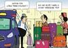 Cartoon: Weekend Holiday (small) by JotKa tagged holiday,short,stay,long,vacation,vacationer,weekend,suitcase,luggage,taxi,cab,driver,traveling,man,woman,relationship,he,company,car,business,tourism,marriage