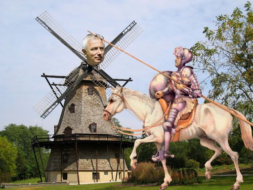 Cartoon: Don Quijote tilting at windmills (medium) by azamponi tagged world,cup,2010,sport