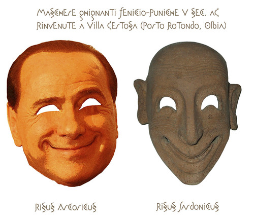 Cartoon: Risus Arcoricus-Risus Sardonicus (medium) by azamponi tagged berlusconi,satire,italy,risus