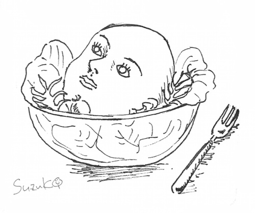 Cartoon: Kopfsalat (medium) by nbk11 tagged kopfsalat,scribble