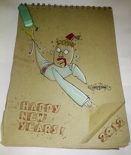 Cartoon: HAPPY NEW YEARS! (medium) by CIGDEM DEMIR tagged years,new,happy