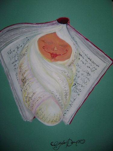 Cartoon: MORE THAN A BOOK (medium) by CIGDEM DEMIR tagged book,baby,people,human,reading