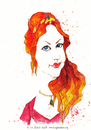 Cartoon: Hurrem Sultan (small) by CIGDEM DEMIR tagged hurrem sultan meryem uzerli muhtesem yuzyil