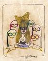 Cartoon: Little Monsters (small) by CIGDEM DEMIR tagged lady,gag,little,monsters
