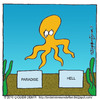 Cartoon: Octopus Paul Dead (small) by CIGDEM DEMIR tagged octopus,paul,cigdem,demir,2010,animal,paradise,hell