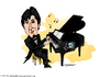 Cartoon: Pianoman Alex (small) by CIGDEM DEMIR tagged alex guma bondia piano man sharks cigdem demir