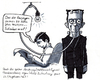 Cartoon: Frankenstein wahres Genie (small) by bertgronewold tagged frankenstein,strom,erfindung