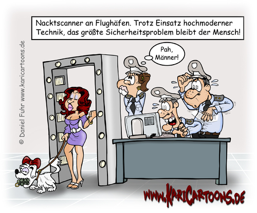 Cartoon: Körperscanner (medium) by karicartoons tagged terrorismus,terror,sicherheitscheck,sicherheit,scanner,scan,nacktscanner,körperscanner,flughafen,durchsuchen,durchleuchten,drohung,cartoon,bedrohung,attentat