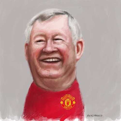 Cartoon: Alex Ferguson (medium) by AkinYaman tagged alex,ferguson