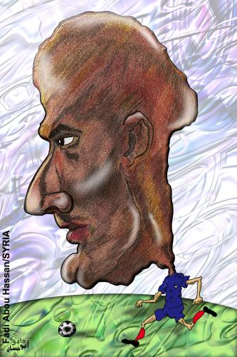 Cartoon: FADI ABOU HASSAN (medium) by FADI1975 tagged king,of,football,